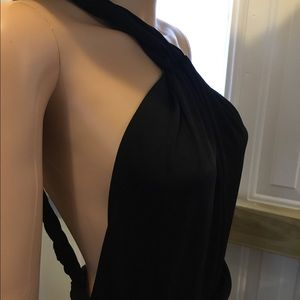 GOODTIME Dresses - GOODTIME Black Vintage Backless Slinky Long Dress